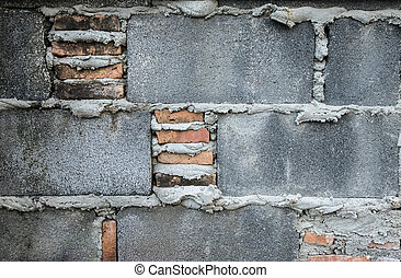 Cement block wall texture
