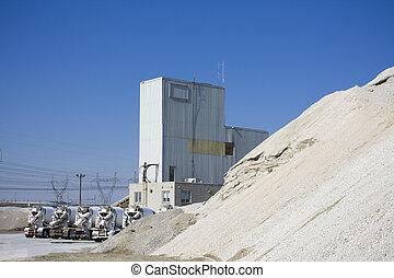 cement, fabriekshal, faciliteit