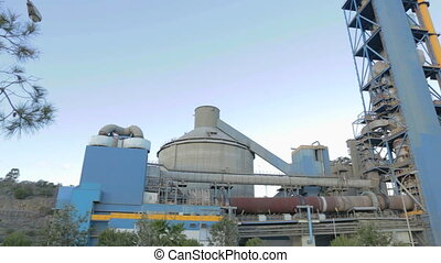 Cement factory - Establishing shot of a cement factory. ...