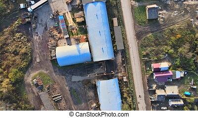 Cement factory heavy concrete at a construction plant form industry zone of concrete cement mortar plant