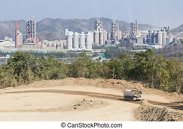 Cement factory in the mountains