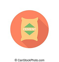 cement  flat color icon