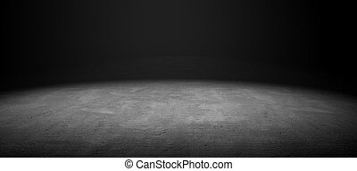 Cement floor - 3d image of cement floor with dramatize light