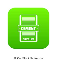 Cement icon green