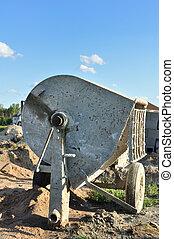 Cement Mixer at Construction Site