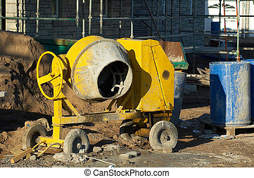 Cement Mixer - Construction site cement mixer