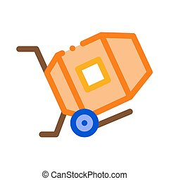 Cement Mixer Icon Vector Outline Illustration - Cement Mixer...