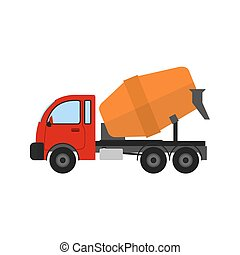 Cement Mixer - Mixer, vehicle, truck icon vector image. Can ...