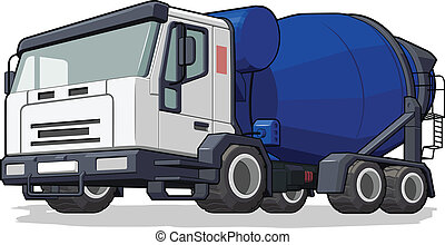 Cement Mixer Truck - A vector image of an isolated cement...