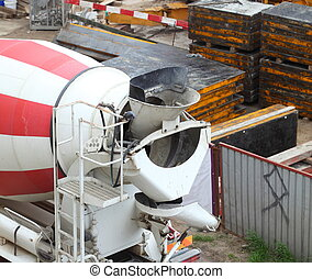 Cement Mixer Truck outdoor nobody site car