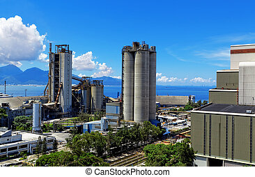 Cement Plant at day