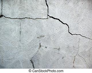 cement, sprickor