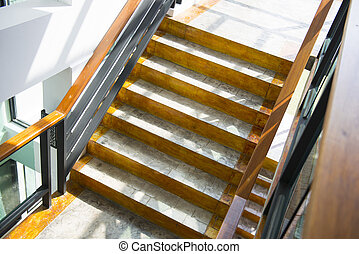 cement staircase in building