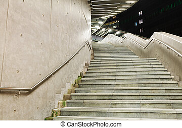 Cement staircase