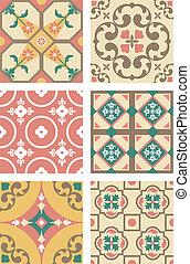 Cement Tiles - Six patterns of cement tiles