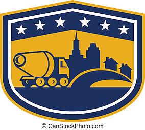 Cement Truck Construction Building Shield