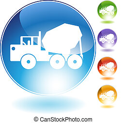 Cement Truck Crystal Icon