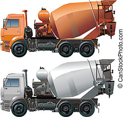 cement truck - Available EPS-8 vector format separated by...