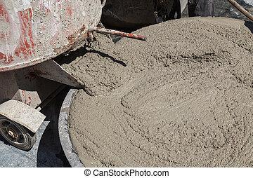 cement, våt