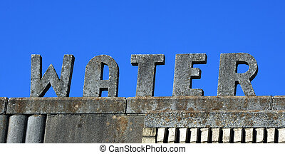 Cement Water Sign