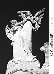 cementerio, ángeles