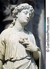 cementerio, estatua