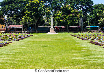 cementerio, kanchanaburi, guerra, tailandia