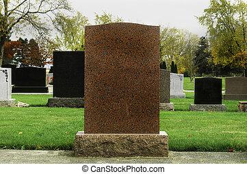 cementerio, Lápida