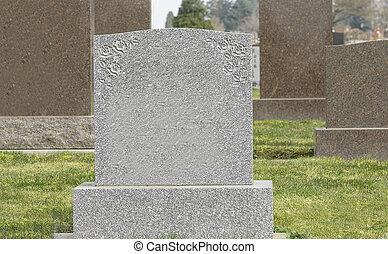 cementerio, Lápidas, blanco
