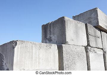 cemento bloquea, pila