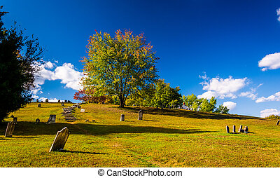 Cemetary in Harpers Ferry, West Virginia. - Cemetary in...