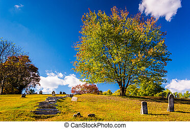Cemetary in Harpers Ferry, West Virginia.