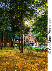 cemetary,  Massachusetts, historique,  boston