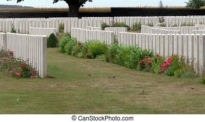 Cemetery at the Canadian National Vimy Memorial, World War I Memorial in France.
