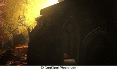 Cemetery Autumn 3D render