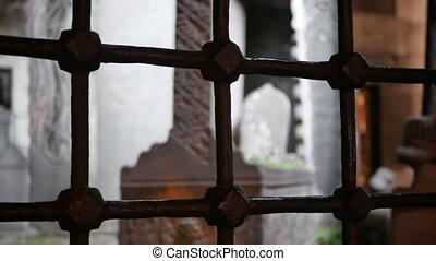 Cemetery bare silhouette - Cemetery with bare dark horror