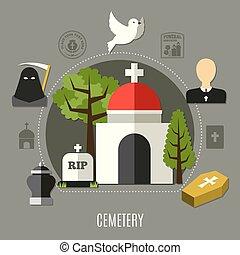 Cemetery Concept Set