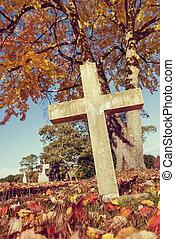 Cemetery in autumn