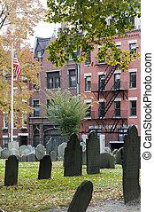 Cemetery in Boston