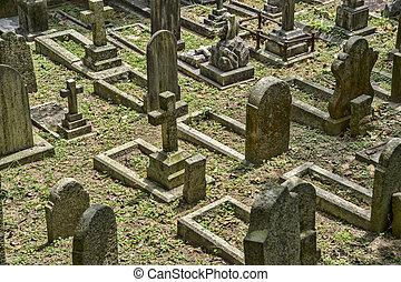 Cemetery in Hong Kong, China