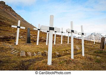 Cemetery in Longyearbyen, Svalbard