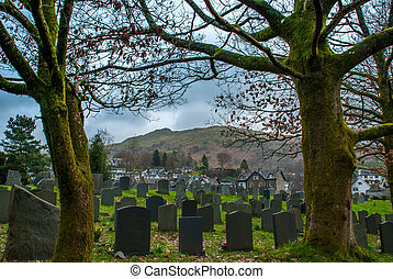 Cemetery in the Lake District area.