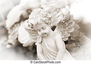 little Angel on a cemetery