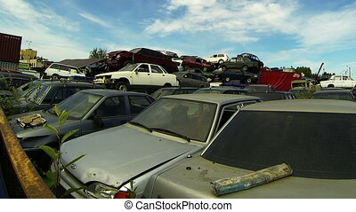 Cemetery machines, dump cars