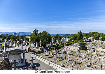 Cemetery of Loyasse on the Fourviere hill Lyon, France