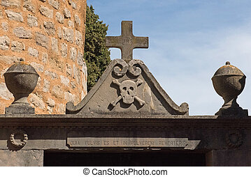 cemetery of rennes le chateau city, occitanie, France
