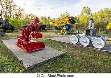 Cemetery of robots in Chernobyl
