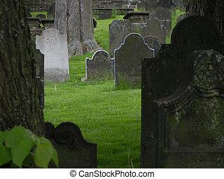 Cemetery stones - Cemetery headstones close up