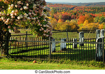 Cemetery - View of cemetery during fall season