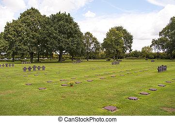cemitérios, de, a, caído, alemão